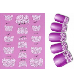 Sticker french dentelle