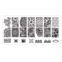 Plaque stamping dentelle 10