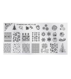 Plaque stamping Noel