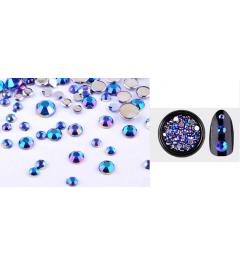 Boîte de strass bleus